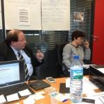 Réunion de travail Sud Radio - Michel Pierdait et Laure Vignaux