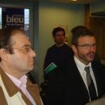 Le Président Cluzel et Claude Hemmer- Délocalisation de l'Antenne France Bleu 107.1 à la Gare de Melun en 2008.