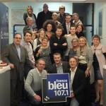 L'équipe de France Bleu 107.1 en 2012