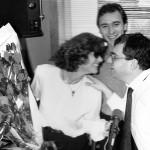 Une journée pas comme les autres Philippe Risoli (remplaçant Patrick Sabatier) reçoit Claudia Cardinale.