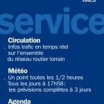 France Bleu Sud Lorraine 2006. Ciculation, Météo, Agenda