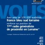 France Bleu Sud Lorraine 100.000 Auditeurs - Campagne résultats médialocales