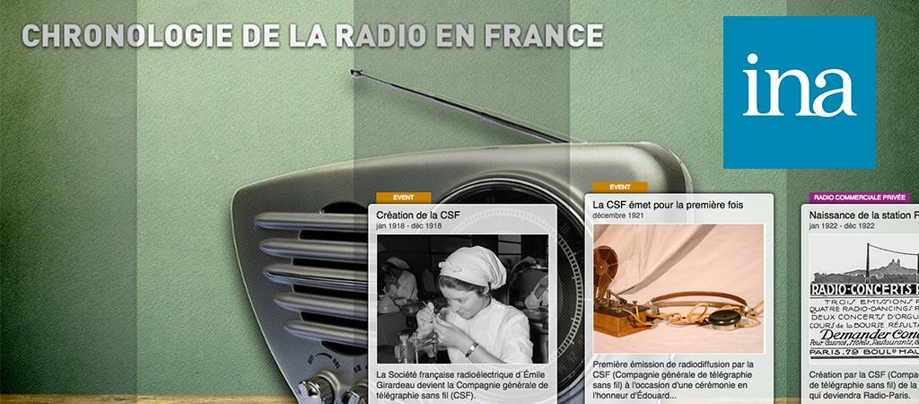Chronologie de la radio avec l'ina