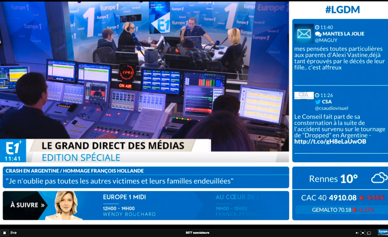 Europe 1 live vidéo