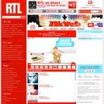 Page Zik-Web du portail RTL. 2000